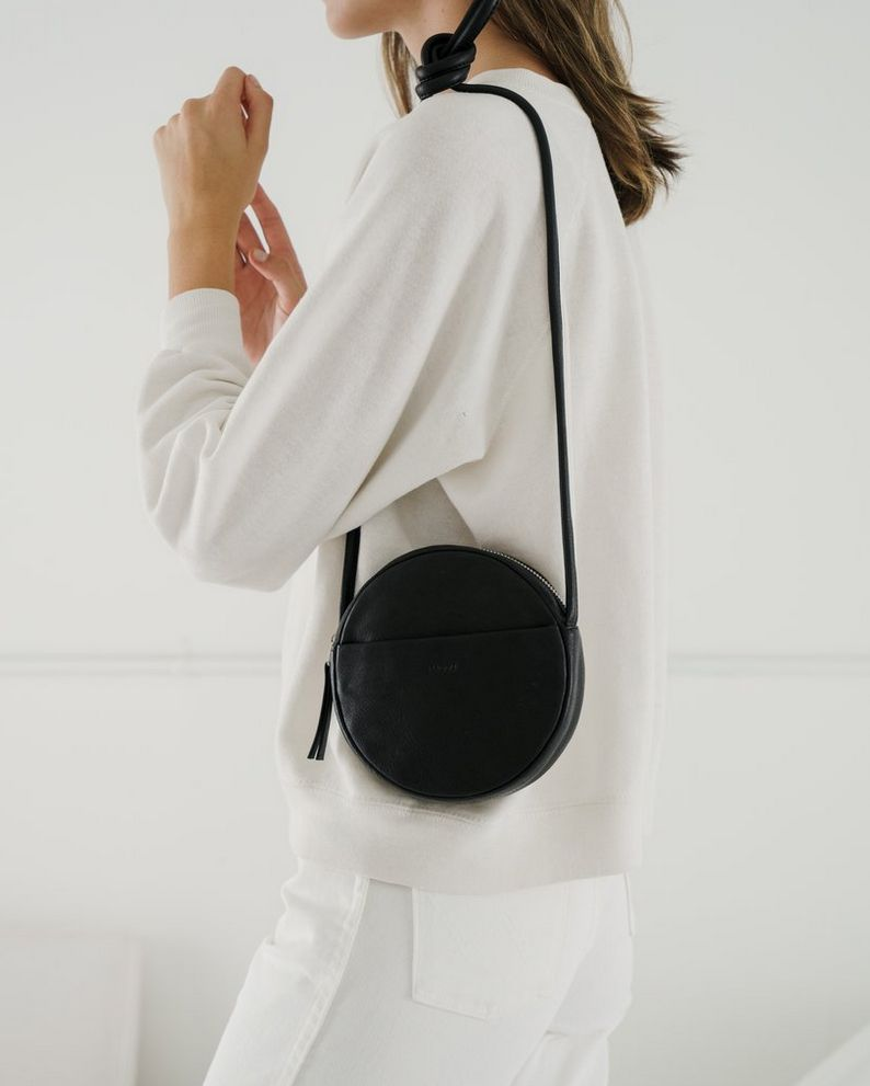 Mini Circle Purse - Black