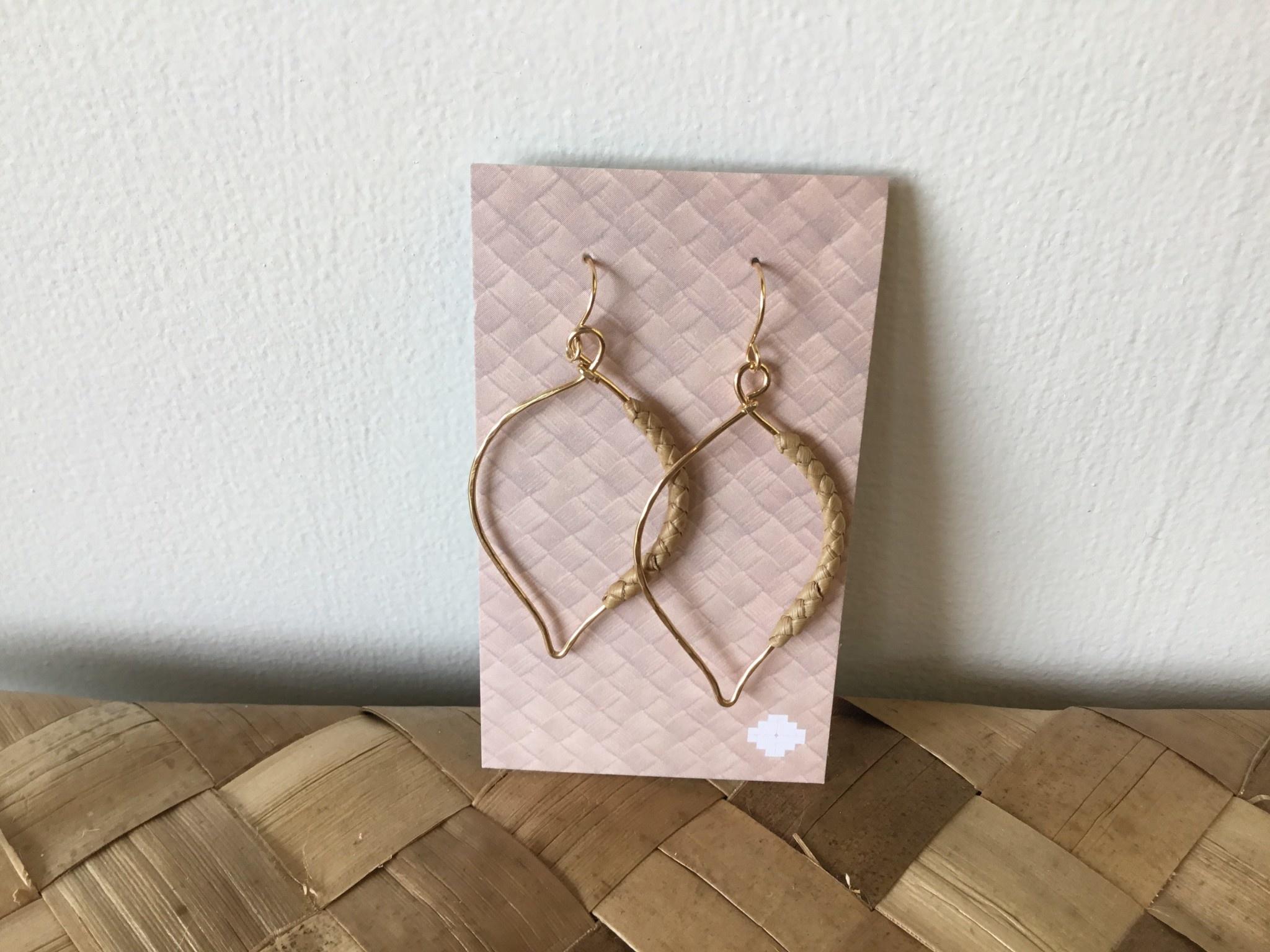 14KGF KAIMANA Lauhala Earrings