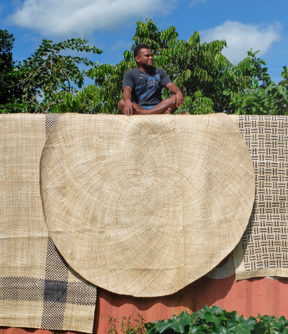 Fiji Lauhala Moena Round Plain approx. 150-200 cm