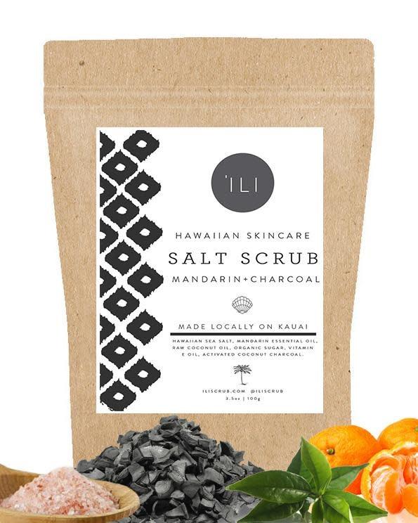 SALT SCRUB MANDARIN + CHARCOAL