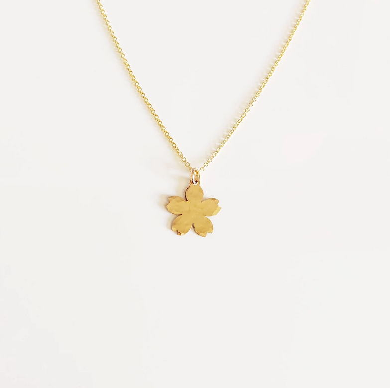 14KGF CHERRY BLOSSOM NECKLACE N323