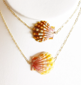 14KGF SUNRISE SHELL NECKLACE CHOKER