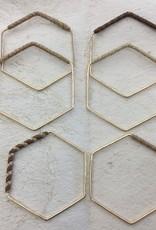 Hana Hou Ulana Geometric Bangles 14kgf/ss