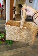 "Lauhala Basket with Handle Size:15""x10"""