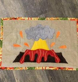 "Handmade Foot Mat ""Volcano"" 26.5""x17"""
