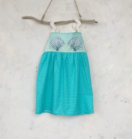 Mermaid Blue Print Dress