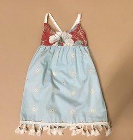 Hibiscus Blue Dress