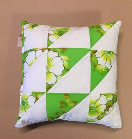 RETRO FABRIC HILO QUILT PILLOWS 13x13 S/2