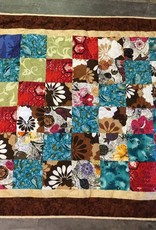 "Vintage Fabric Patch Quilt Brown size: 46""x41"""