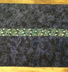 """Vintage Fabric Patch Quilt Blue size: 55""""x45.5"""""""