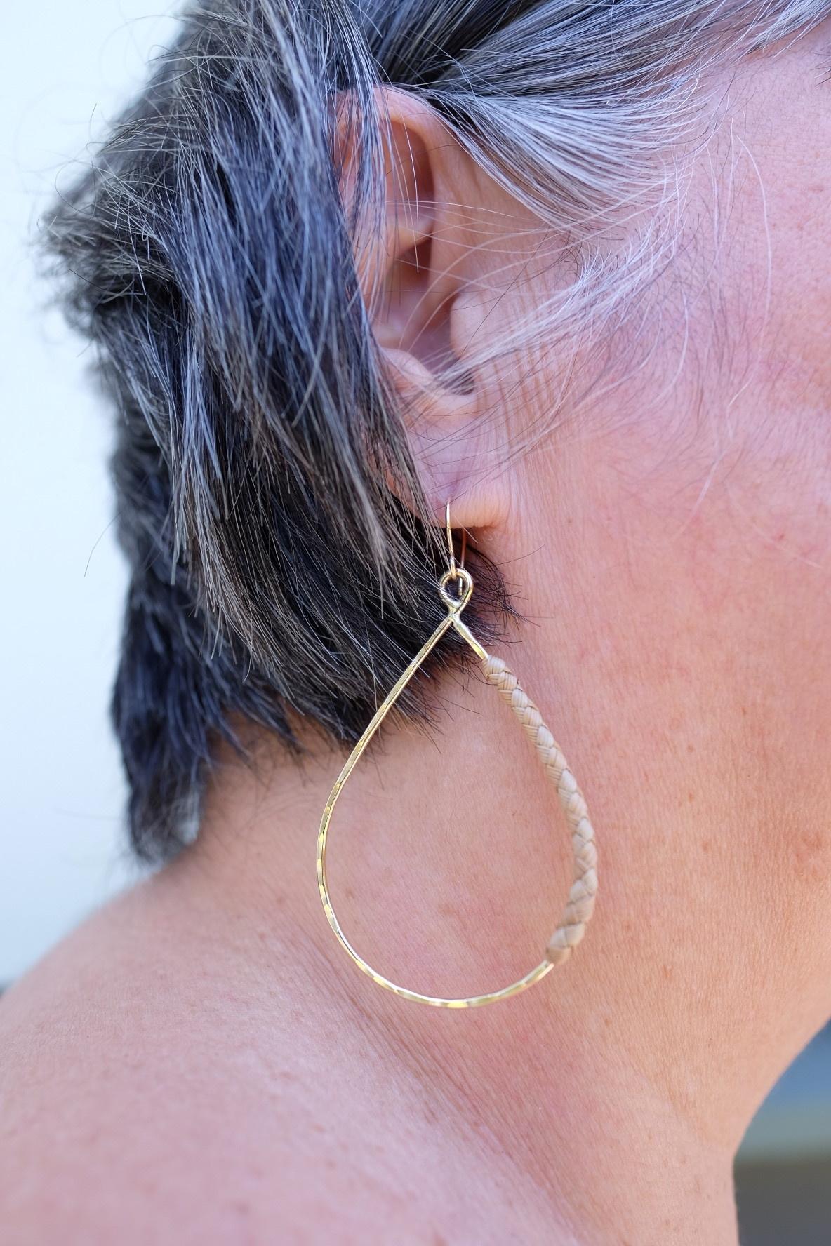 Hana Hou Ua Nui Lauhala Earrings