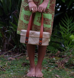 LAUHALA AND LEATHER PIKO ANONI HANDBAG