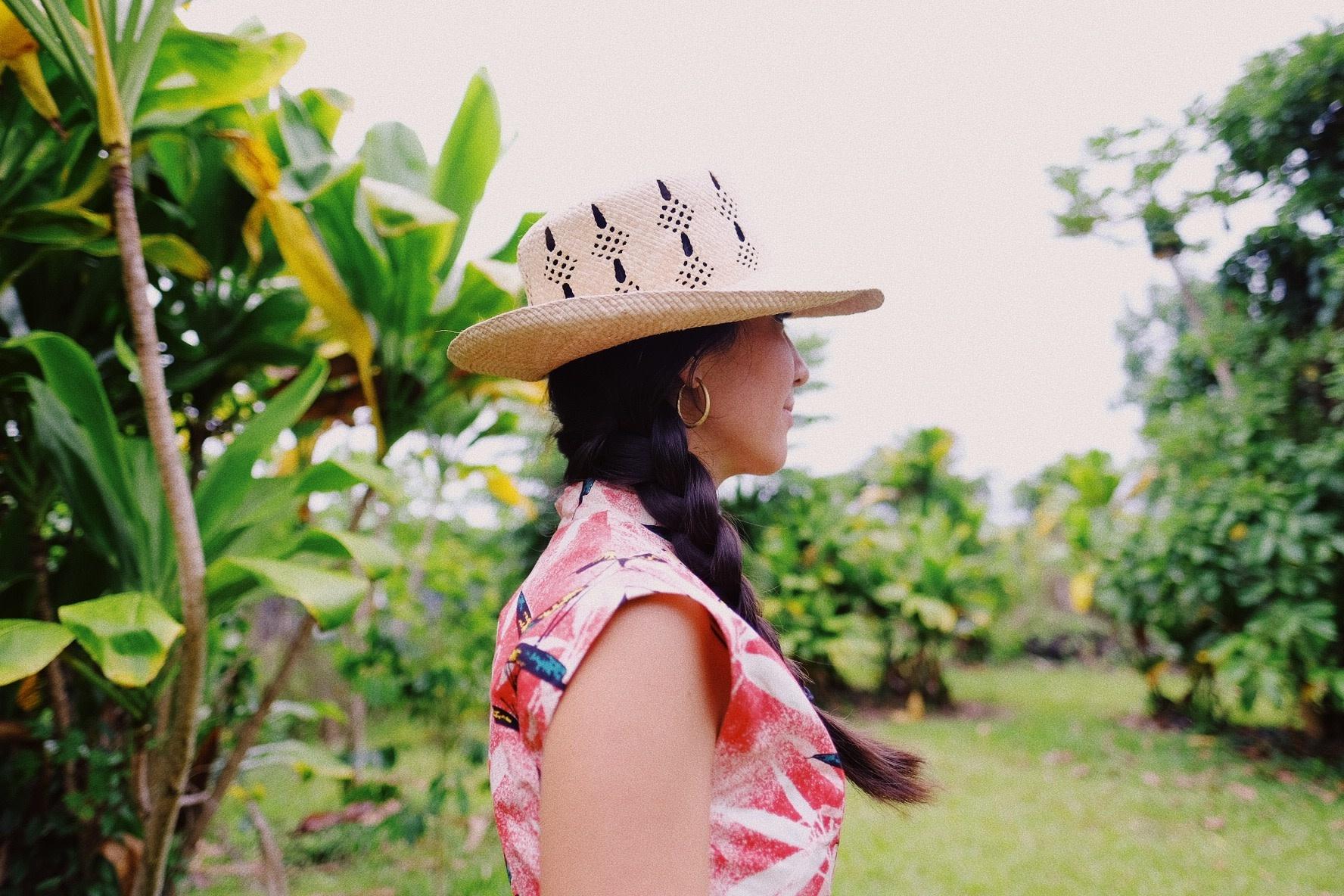 "Lauhala Papale Tahiti Maka Moena Crown Design 22"""