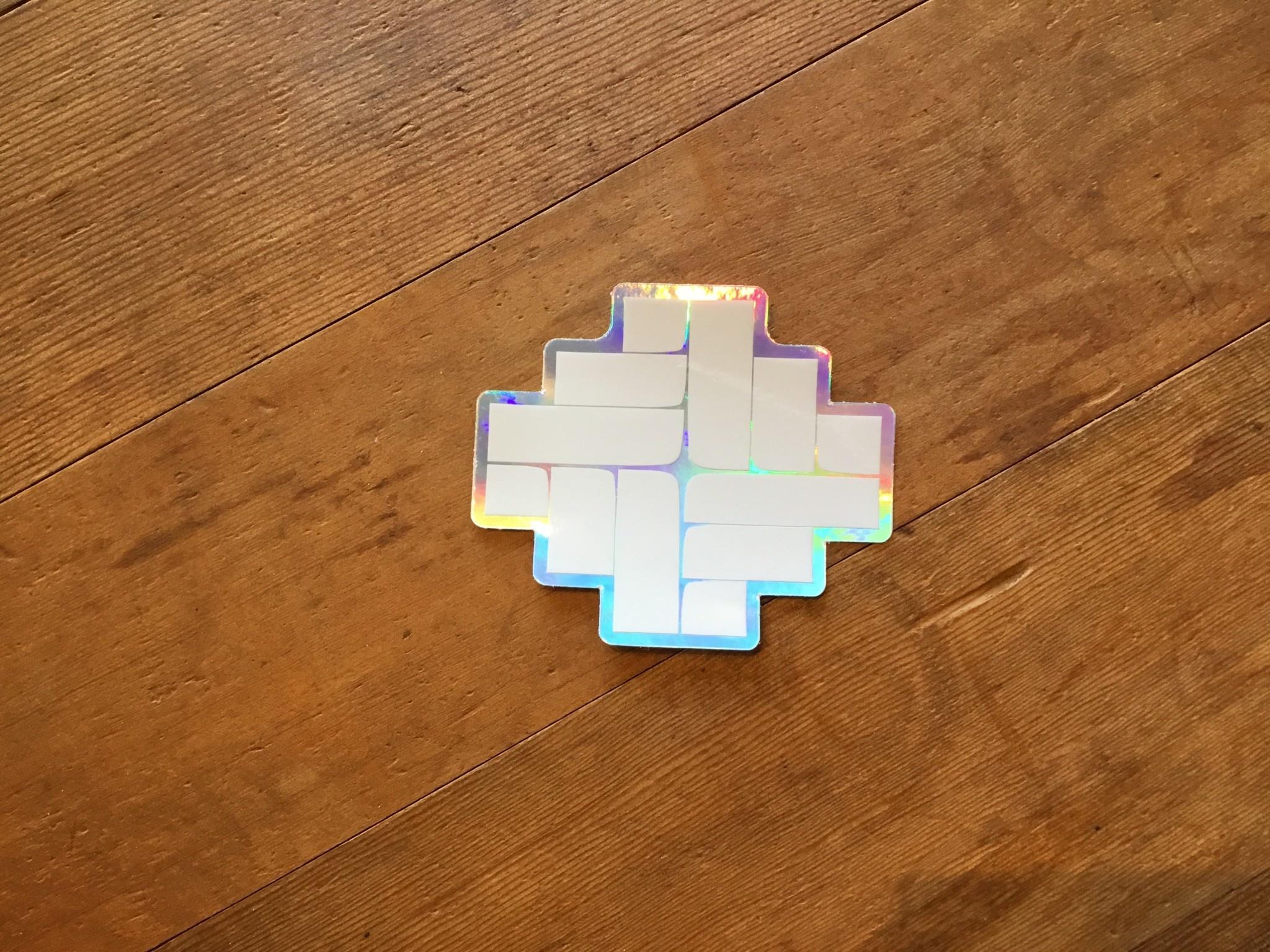 """ʻAlohi Hana Hou Logo Sticker 3x2.5"""""""