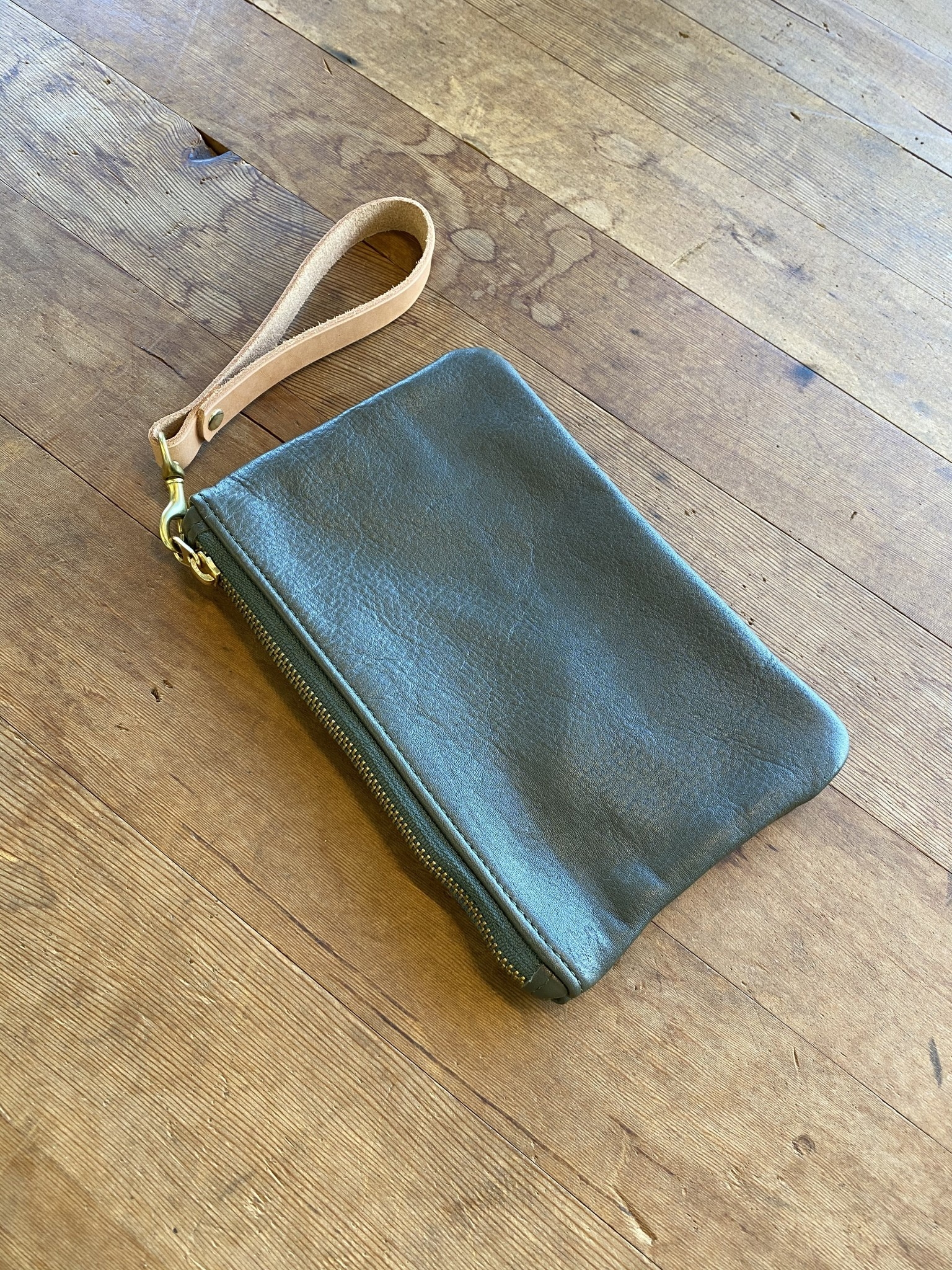 """UC X HH Mini Leather Pouch with Wristlet 9""""x5.5"""""""