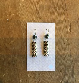 Ulana Lauhala Tahitian Pearl Earrings