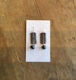 Ulana Lauhala Freshwater Pearl Earrings