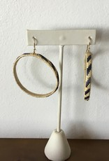 Medium Hoop Ulana Lauhala Earrings