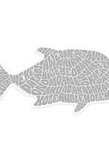 "Ulua Fish Sticker (6.5"" x 3.13"")"