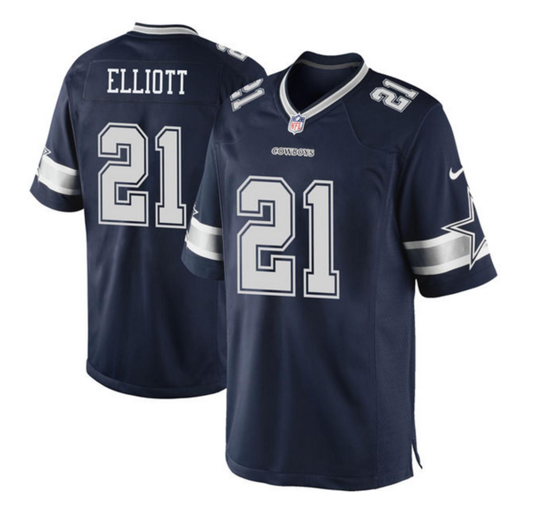 Nike Dallas Cowboys Men's Nike Ezekiel Elliott #21 Limited Stitch Jersey Navy