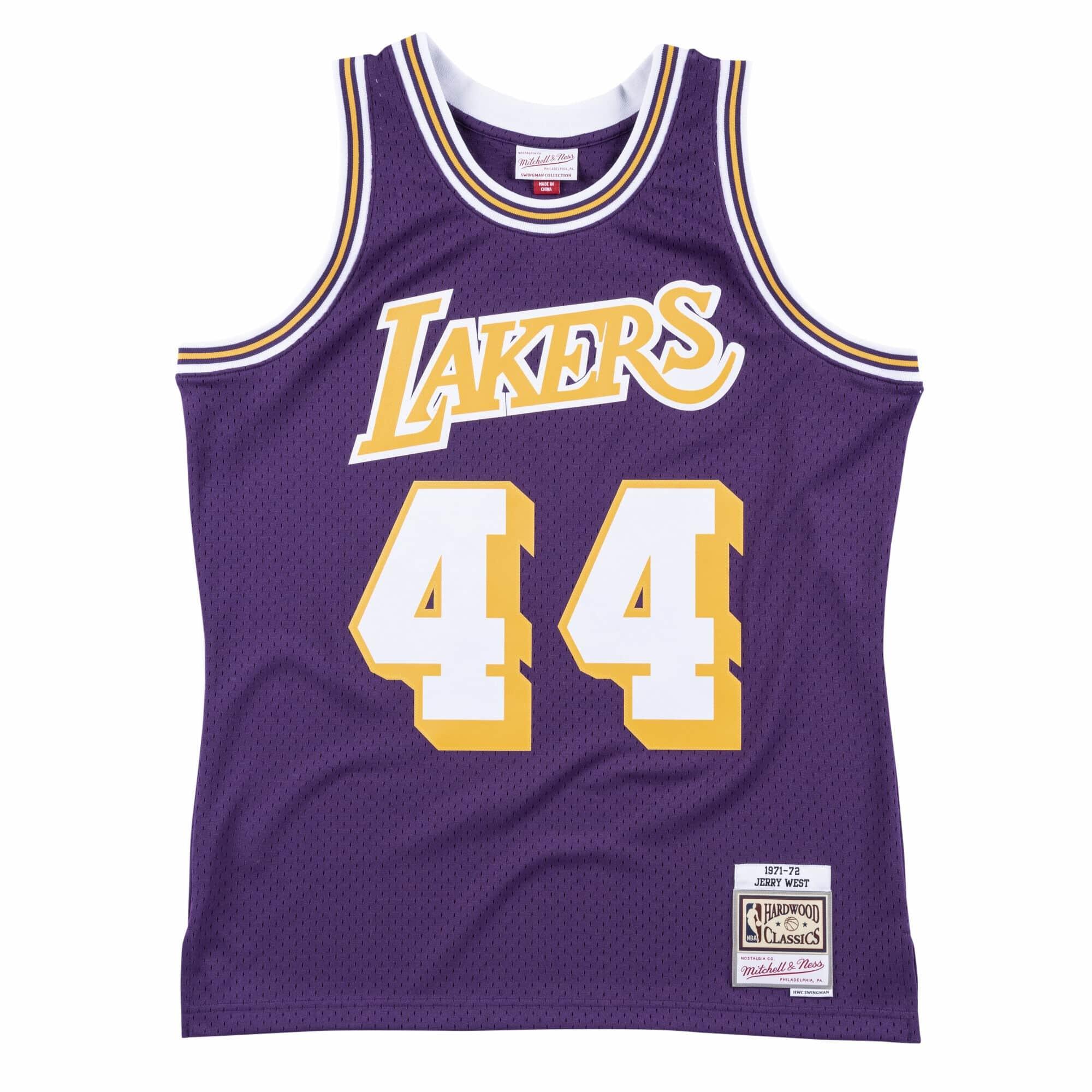 LA Lakers Men's Mitchell & Ness 1971-72 Jerry West #44 Replica Swingman Jersey Purple