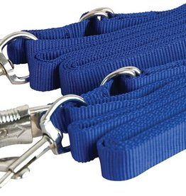 Adjustable Nylon Crossties with Panic Snap Blue