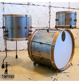 A&F Drum Co A&F Raw Steel Drum Kit 20-12-14in
