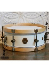 A&F Drum Co A&F Field Maple Antique White Snare Drum 14X5.5in