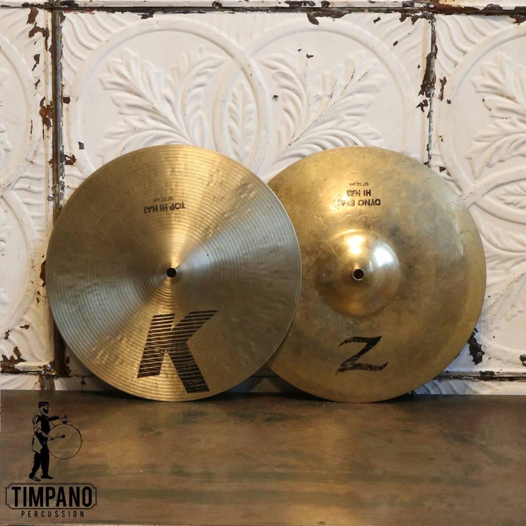 Zildjian Cymbales hi-hat usagées Zildjian K Dark/Z Dyno 13po