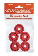 CYMPAD Cympad Chromatics 40/15mm Red Crash Felts (pack of 5)