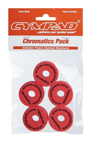 Feutres Cympad Chromatics 40/15mm Crash Rouge (paquet de 5)