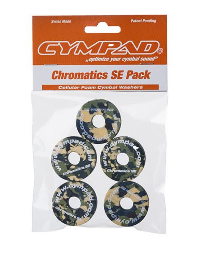 CYMPAD Cympad Chromatics 40/15mm Camouflage Crash Felts (pack of 5)