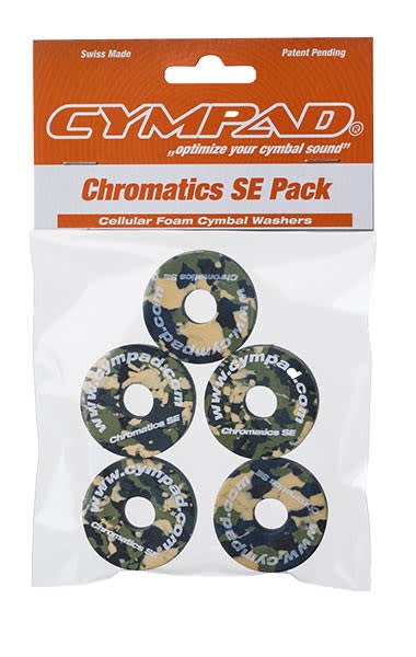 Cympad Chromatics 40/15mm Camouflage Crash Felts (pack of 5)