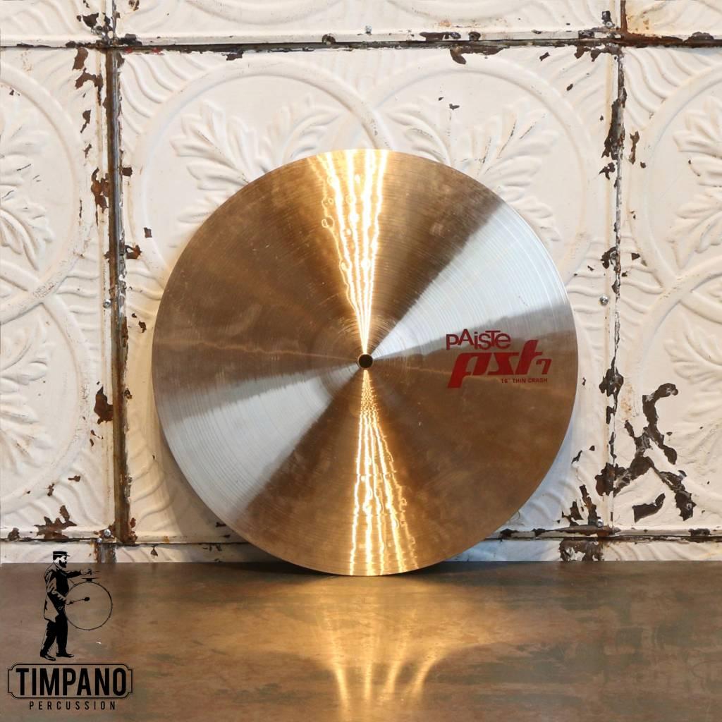 Paiste Cymbale crash usagée Paiste PST7 Thin 16po