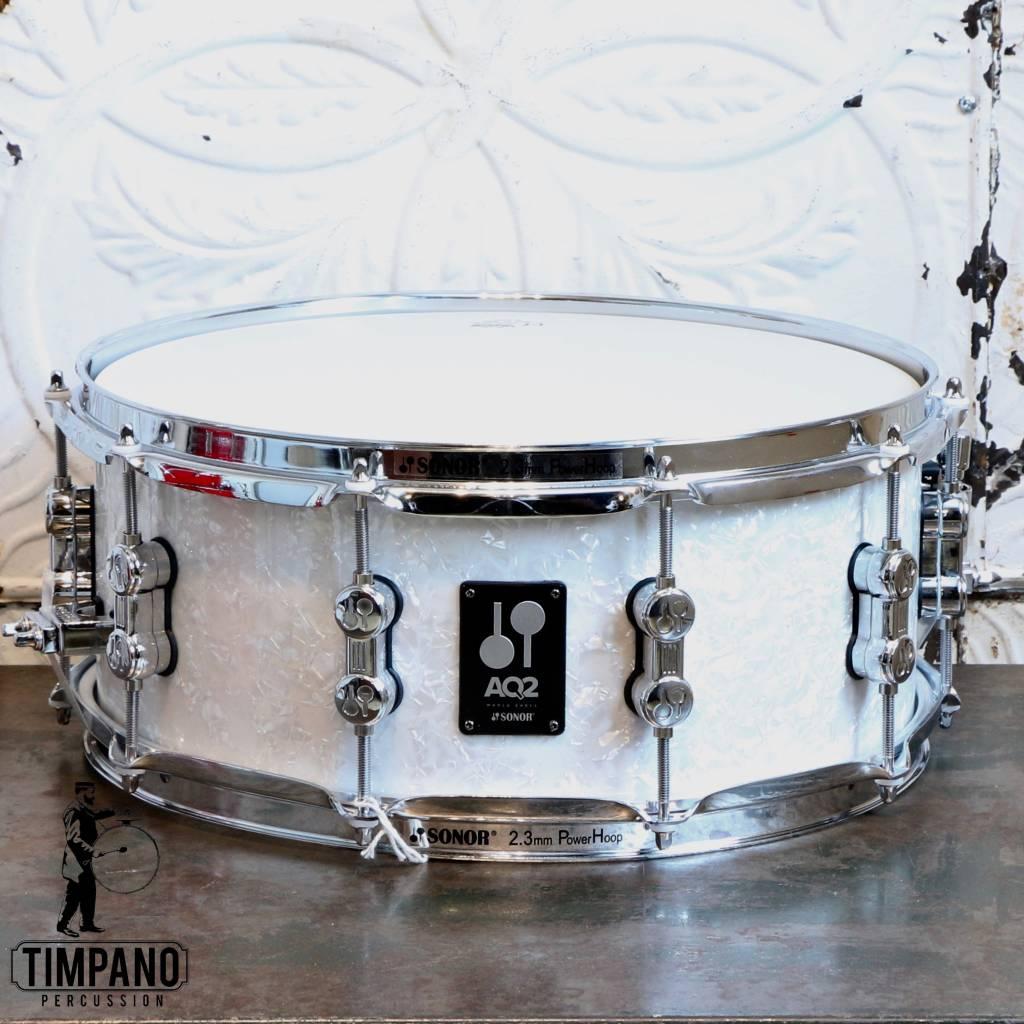 Sonor Sonor AQ2 White Pearl Snare Drum 14X6in