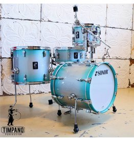 Sonor Sonor AQ2 Safari Aqua Silver Burst Drum Kit 16-10-14in  + 14in Snare
