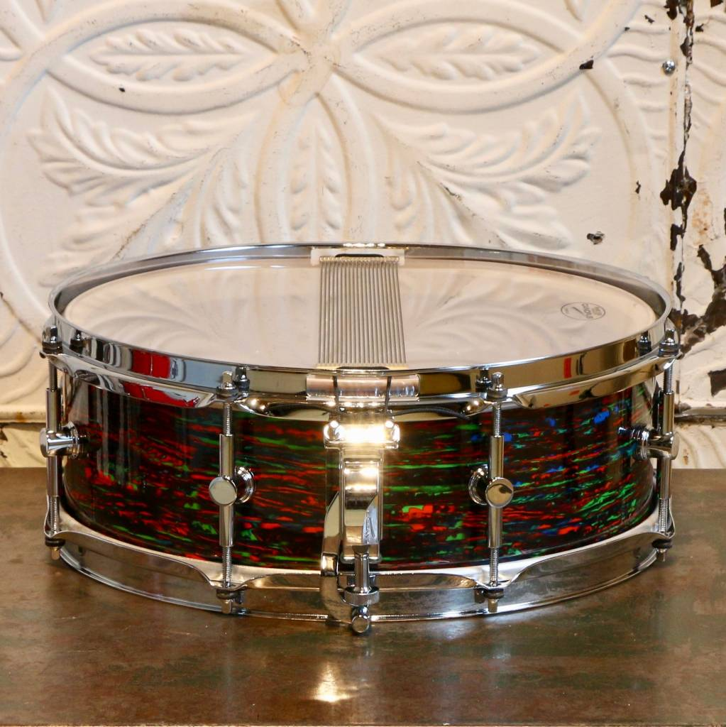 Canopus Canopus NV-60M2S Psychedelic Red Snare Drum 14X5in