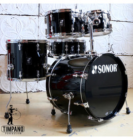 Sonor Sonor AQ1 Piano Black Drum Kit 20-10-12-14in + 14in snare & hardware pack