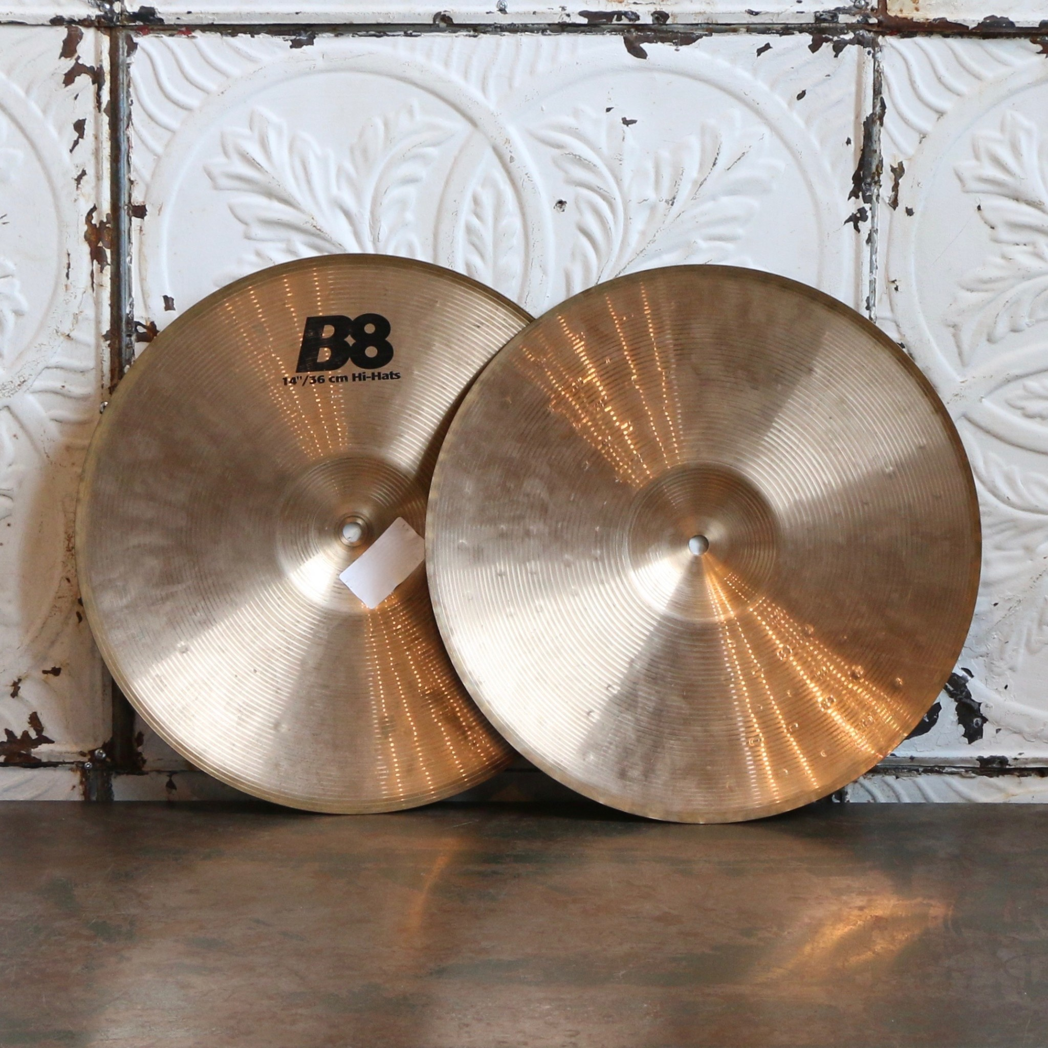 Sabian Cymbales hi-hat usagée Sabian B8 14po
