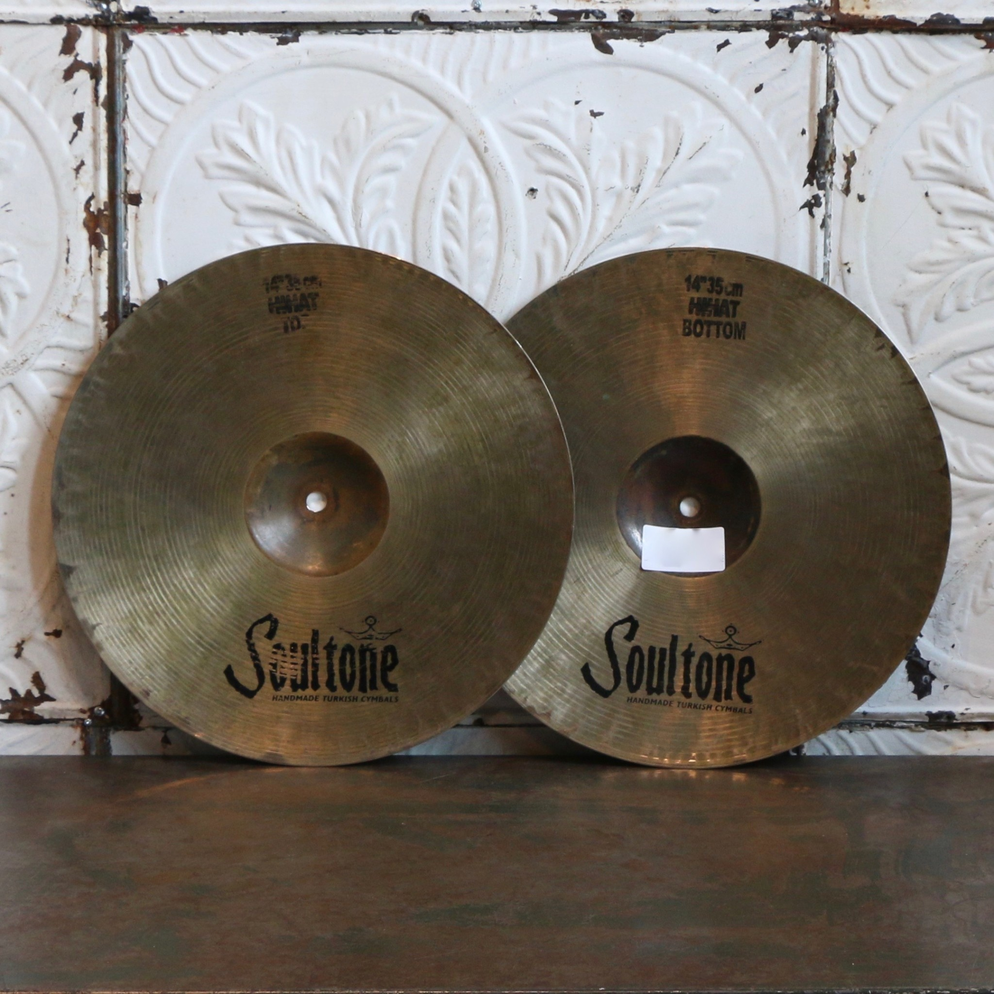 Cymbales hi-hat usagées Soultone Extreme 14po