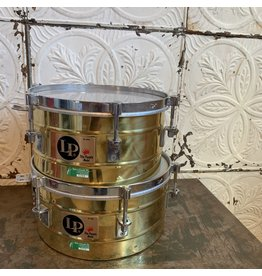 Latin Percussion Used LP Tito Puente Brass Timbales 12 and 13in