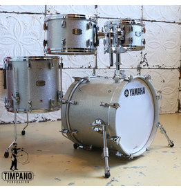 Yamaha Batterie Yamaha Absolute Maple Hybrid Silver Sparkle 18-10-12-14po + support de toms