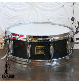 Gretsch Used Gretsch USA Custom Nitron Black Glass Snare Drum 14x5.5in
