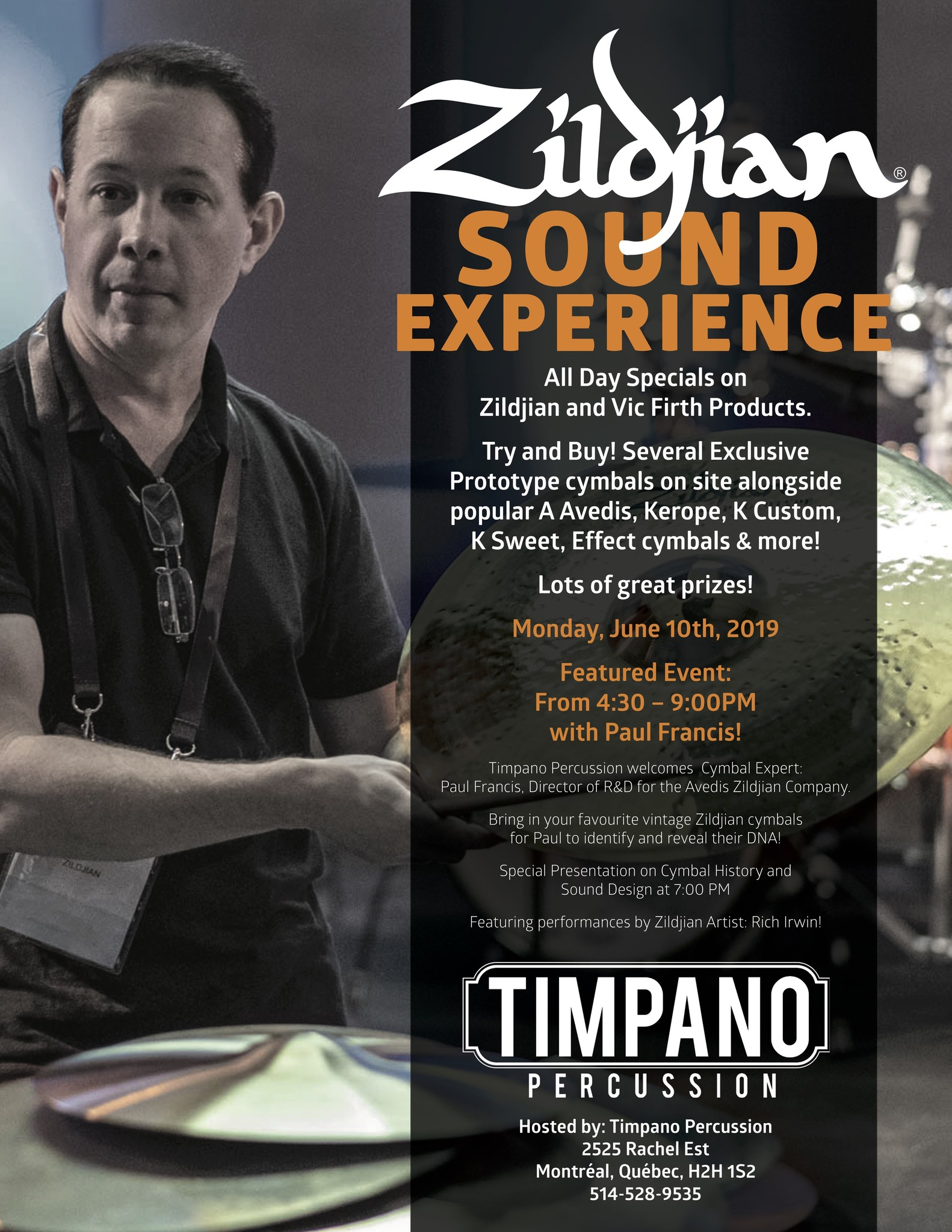 Zildjian Sound Experience Day with Paul Francis