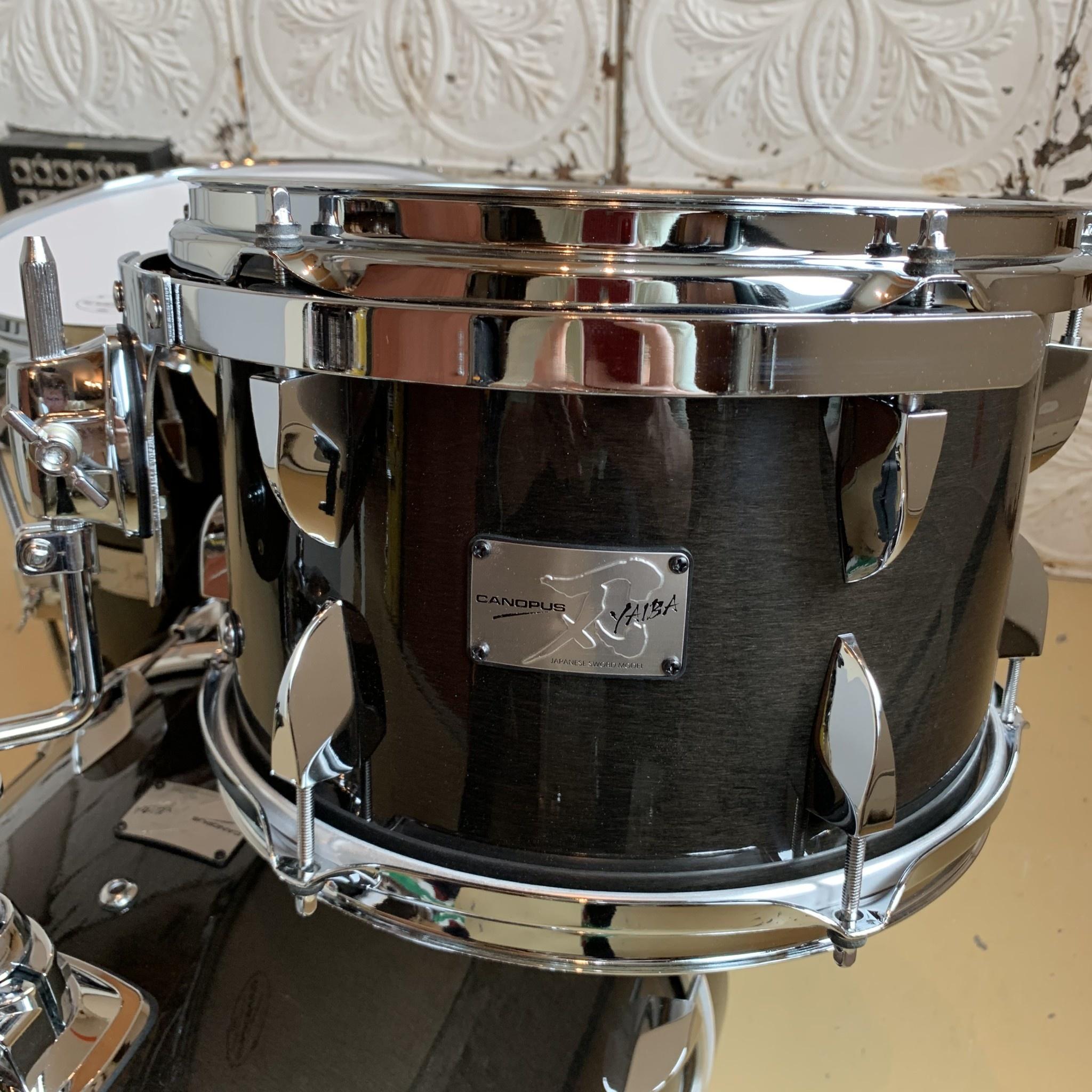 Canopus Drumkit Canopus YAIBA Maple Bob (12, 14, 18) Ebony Gloss Lacquer