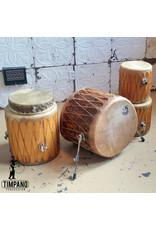 Used Taos Drums 5-piece Drum Kit (natural skins)