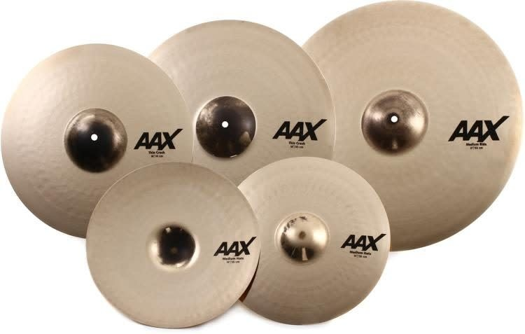 Sabian Cymbales Sabian AAX PROMOTIONAL SET 14-16-21in with free 18in
