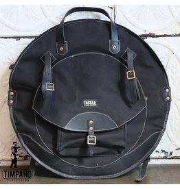 Tackle Instrument Supply Co. Étui de cymbales Tackle en cuir Noir 22po