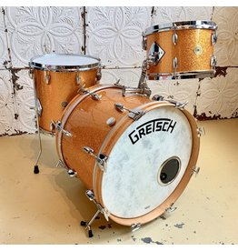 Gretsch Batterie usagée Gretsch Broadkaster (Vintage Built) 20-12-14po - Gold Sparkle