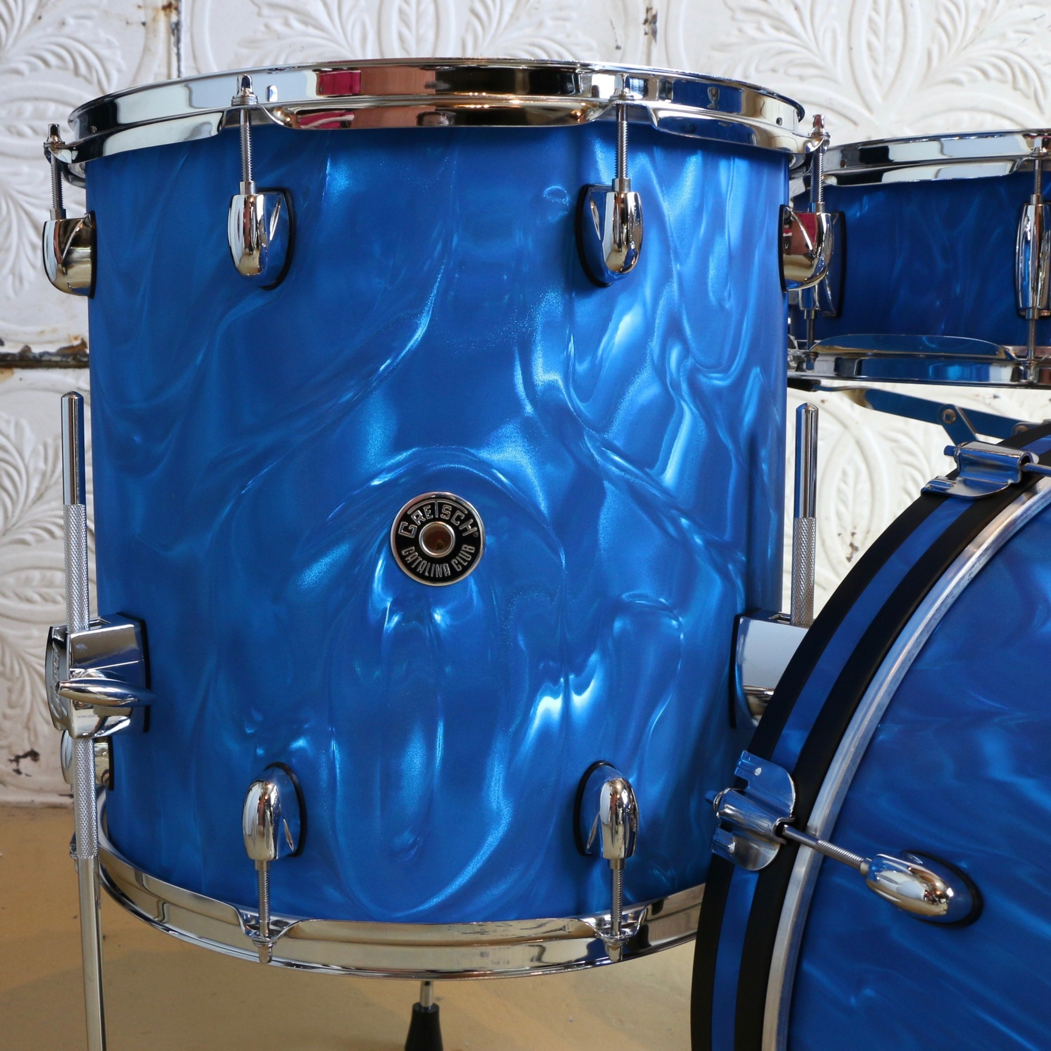 Gretsch Gretsch Catalina Club Drum Kit 18-12-14in + 14in Snare - Blue Satin Flame
